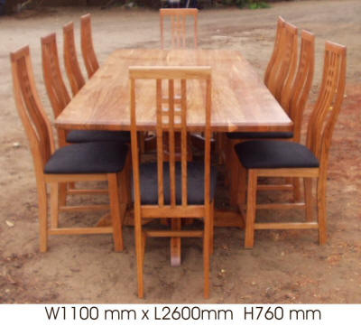 DIN.18 10 Seater With 2 Turned Legs
